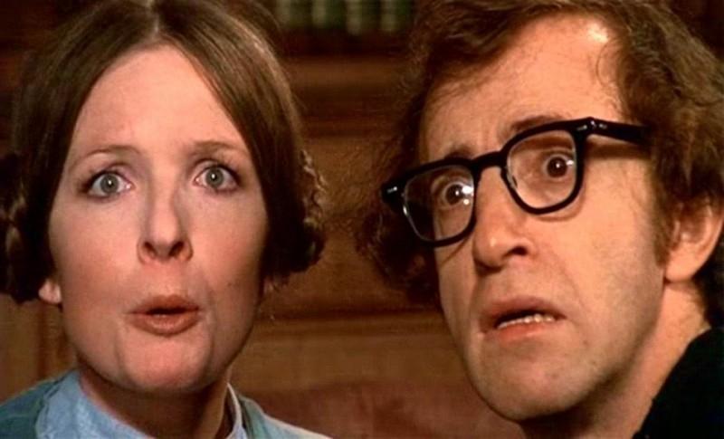 Diane Keaton con Woody Allen in una scena di AMORE E GUERRA