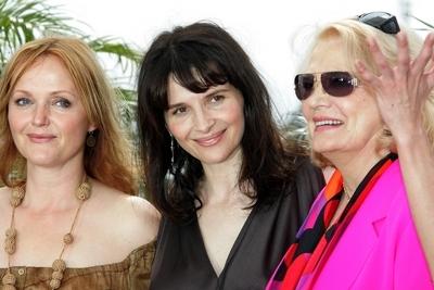 Miranda Richardson, Juliette Binoche e Gena Rowlands a Cannes per presentare Paris je t'aime