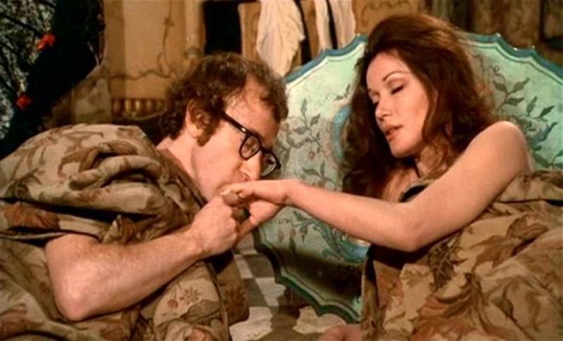 Woody Allen e Olga Georges-Picot in una scena di AMORE E GUERRA