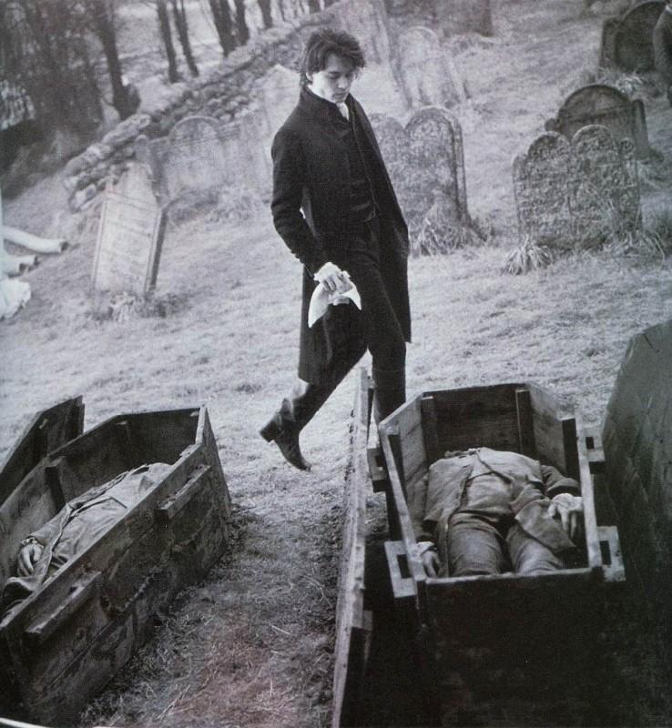 Johnny Depp in una foto promozionale per il film Il mistero di Sleepy Hollow