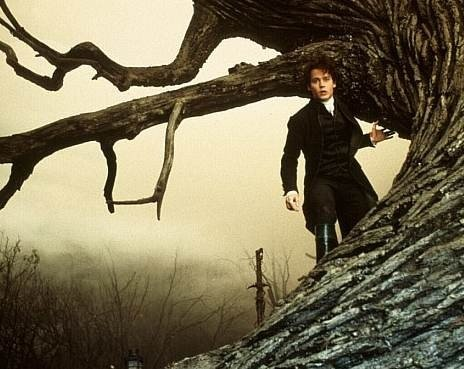 Johnny Depp in una foto promo per Il mistero di Sleepy Hollow