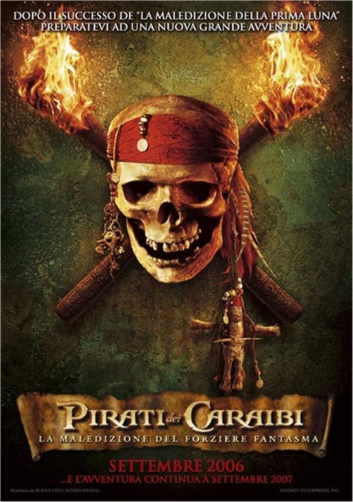 La locandina italiana di Pirati dei Caraibi - la maledizione del forziere fantasma
