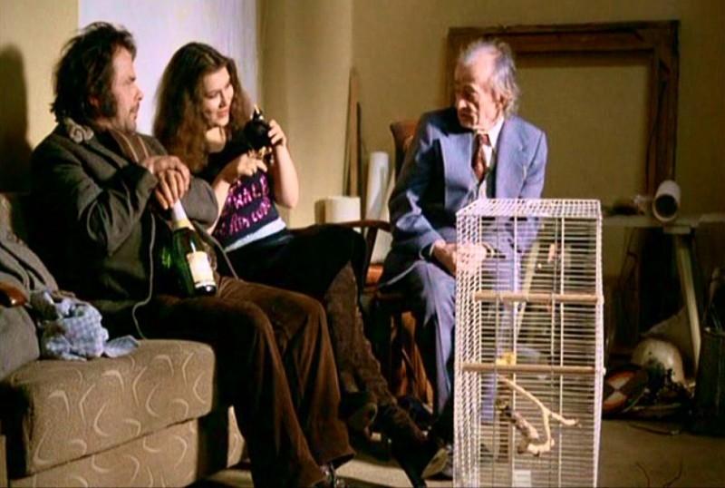 Bruno S., Eva Mattes e Clemens Scheitz in una scena di LA BALLATA DI STROSZEK