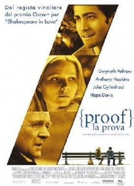 La copertina DVD di Proof - La prova