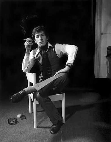 Un ritratto di Ian McKellen da giovane