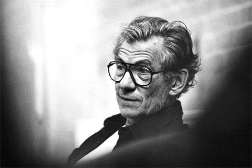 Un ritratto dell'attore Ian McKellen
