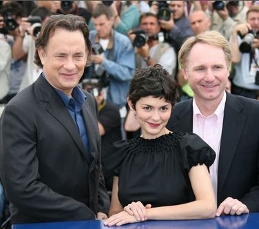 Tom Hanks, Audrey Tautou e Dan Brown