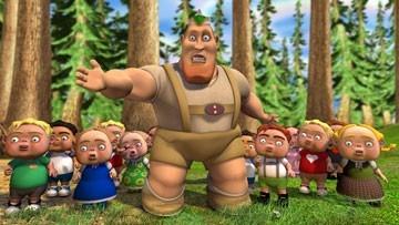 Una scena di Cappuccetto rosso e gli insoliti sospetti, film d'animazione del 2005