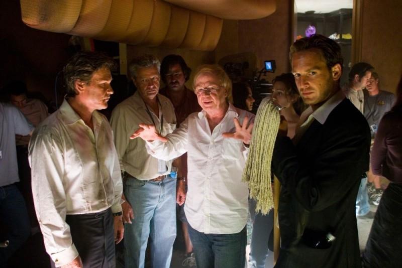 Wolfgang Petersen sul set di Poseidon