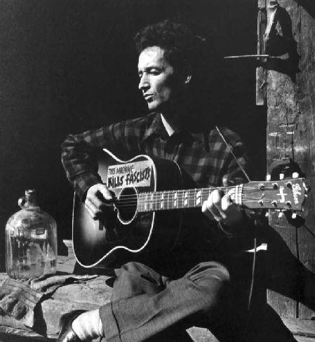 Un'immagine di Woody Guthrie