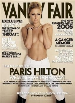 Paris Hilton sulla cover di vanity Fair