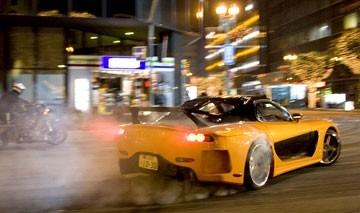 Una scena del film The Fast and the Furious 3