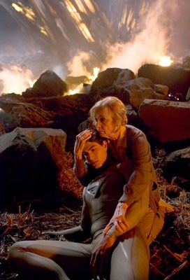 Brandon Routh ed Eva Marie Saint in Superman Returns