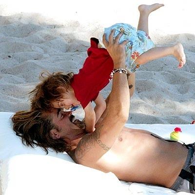 Colin Farrell e suo figlio