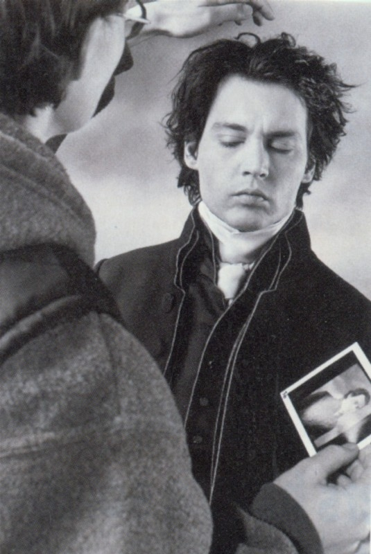 Johnny Depp sul set de Il mistero di Sleepy Hollow