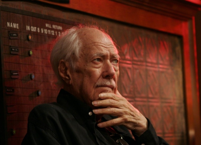 Robert Altman sul set del film Radio America