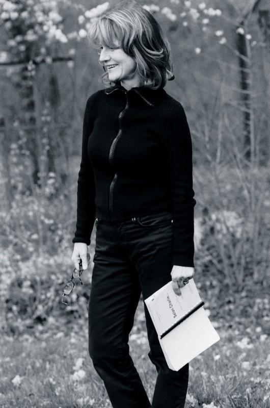 Nicole Garcia sul set del film Selon Charlie
