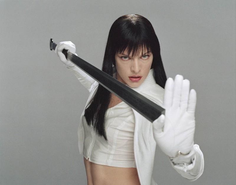 Milla Jovovich in una foto promozionale di Ultraviolet
