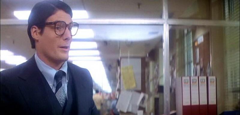 Christopher Reeve in una scena del film SUPERMAN