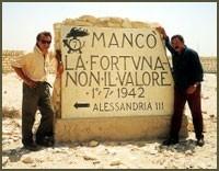 Daniele Nannuzzi ed Enzo Monteleone sul set di El Alamein