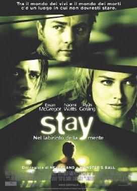 La copertina DVD di Stay - Nel labirinto della mente