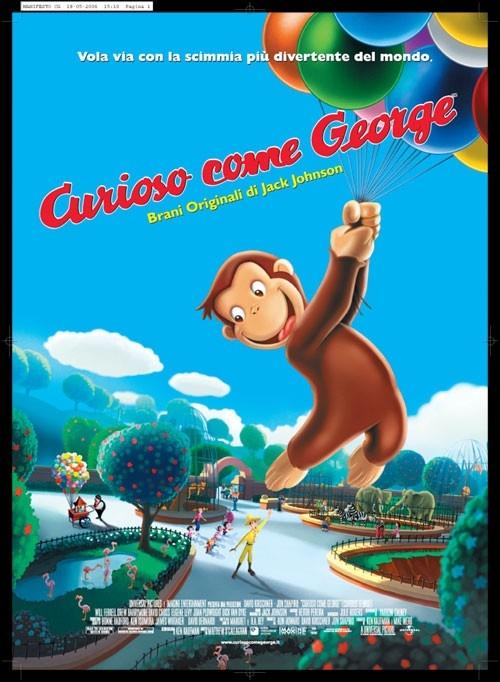 La locandina italiana di Curioso come George