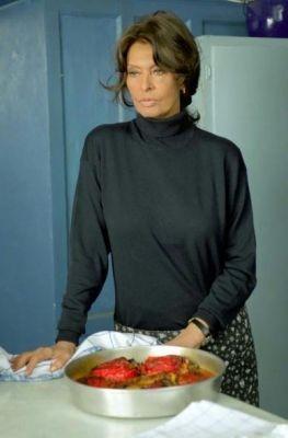 Sophia Loren in Peperoni ripieni e pesci in faccia
