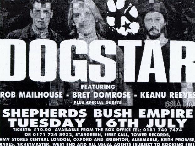 Un volantino pubblicitario dei Dogstar