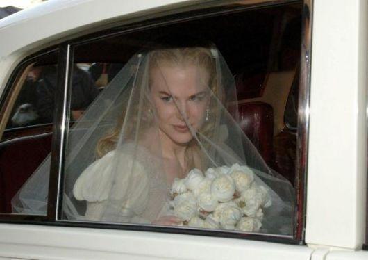 Nicole Kidman nel giorno del suo matrimonio con il cantante Keith Urban