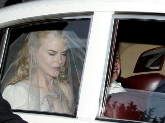Nicole Kidman nel giorno del suo matrimonio con il cantante country Keith Urban
