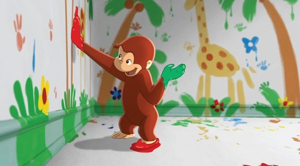 scena del film Curioso come George