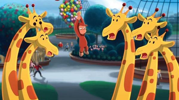 Una scena del film d'animazione Curioso come George
