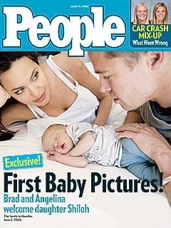 Angelina Jolie , Brad Pitt e la piccola Shiloh Nouvel