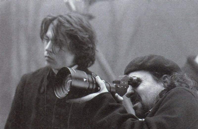 Johnny Depp e Tim Burton sul set de Il mistero di Sleepy Hollow