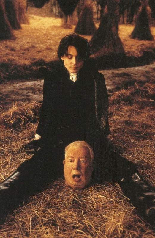 Johnny Depp in una divertente foto promozionale per Il mistero di Sleepy Hollow