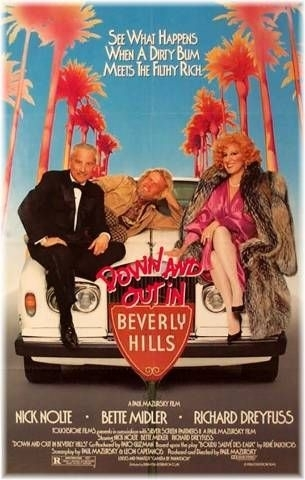 La locandina di Su e giù per Beverly Hills