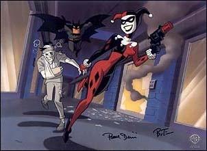 Una scena della serie animata 'Batman'