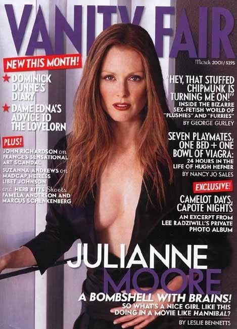 Julianne Moore sulla cover di Vanity Fair