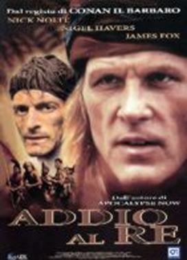 La copertina DVD di Addio al re