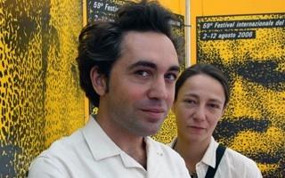 Locarno 2006 -  Conferenza stampa LES MAINS D´ANDREA, Sebastien Betbeder, regista e Julie Grünenbaum direttrice della fotografia