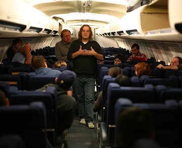 Paul Greengrass sul set di United 93