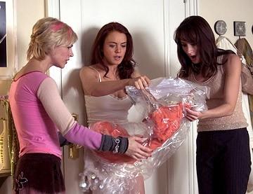 Samaire Armstrong, Lindsay Lohan e Bree Turner nel film Baciati dalla sfortuna