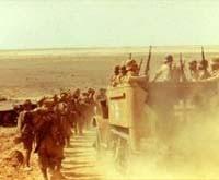 Una scena di El Alamein