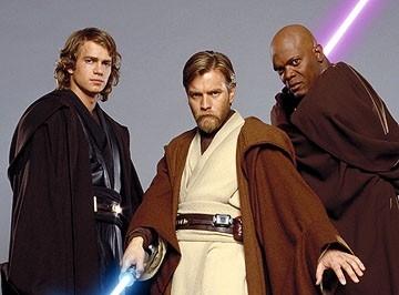 Hayden Christensen, Ewan McGregor e Samuel L. Jackson insieme in Star Wars ep. III