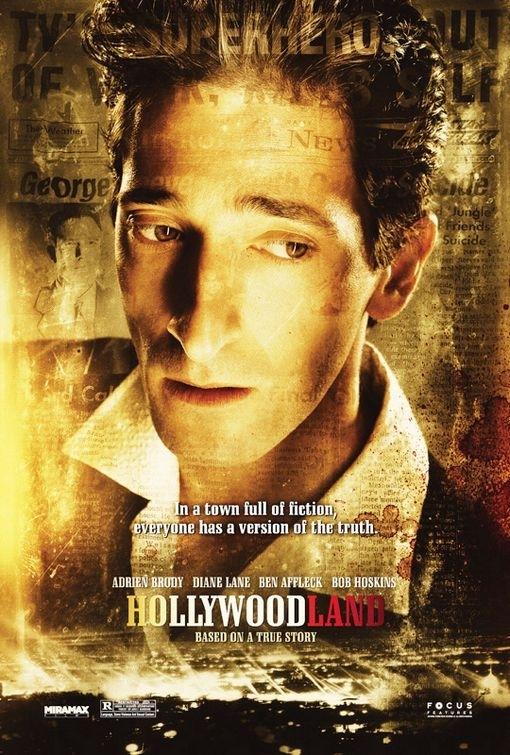 La locandina di Hollywoodland con Adrien Brody