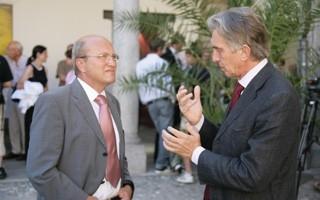 Locarno 2006 - Cerimonia d´apertura, Luigi Pedrazzini, consigliere di stato e Marco Solari, presidente del festival