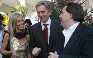 Locarno 2006 - Cerimonia d´apertura, Carla Speziali, sindaco di Locarno, Marco Solari, presidente del festival e Frédéric Maire, direttore artistico