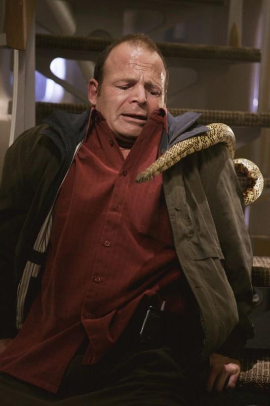 Una scena di Snakes on a Plane