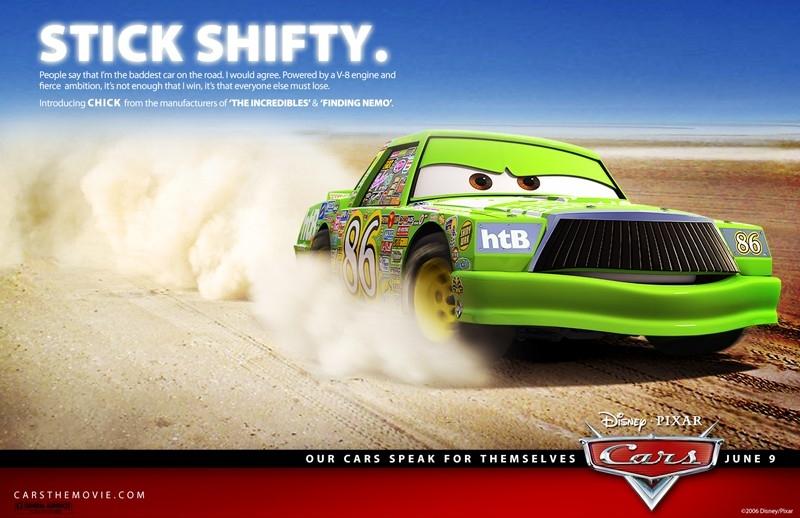 Un'immagine promozionale con Chick per Cars