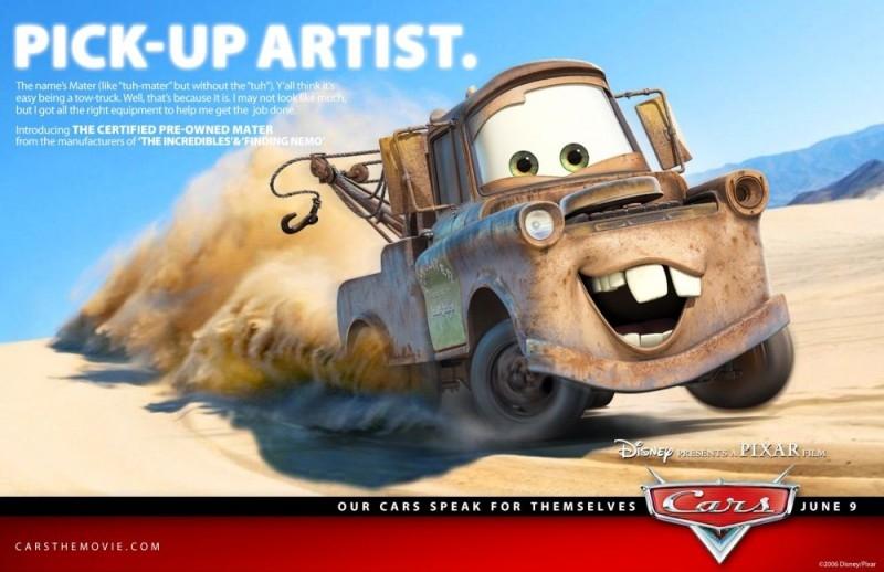 Un'immagine promozionale con Mater per Cars
